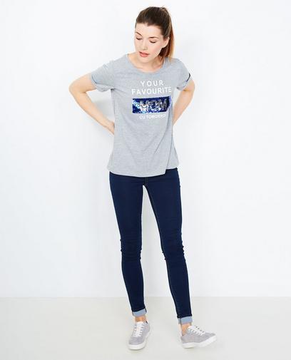 Grijs swipe T-shirt